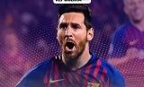 Bintang Barcelona Lionel Messi.