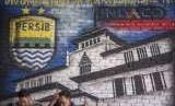 Mural Persib di Bandung, Jawa Barat. (Ilustrasi)