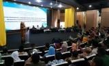 Bupati Purwakarta Anne Ratna Mustika, didampingi Kepala BNNP Jawa Barat Brigjen Pol Sufyan Syarif serta jajaran muspida, dalam acara pengembangan kapsitas dan sinergitas 3 pilar, di Aula Yudhistira Pemkab Purwakarta, Kamis (13/12).