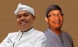 Bupati Purwakarta Dedi Mulyadi (kiri) dan Wakil Gubernur Jawa Barat Deddy Mizwar (kanan)
