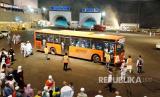 Bus Shalawat 24 jam melayani jamaah haji Indonesia