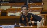 Calon pimpinan Komisi Pemberantasan Korupsi (KPK) Luthfi Jayadi Kurniawan bersiap menjalani uji kepatutan dan kelayakan di ruang rapat Komisi III DPR RI, Senayan, Jakarta, Kamis (12/9/2019).
