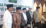Calon Wakil Presiden (Cawapres) nomor urut 01, KH. Ma'ruf Amin bersilaturrahim dengan para Pengurus Besar Nahdlatul Ulama (PBNU) di gedung PBNU, Jakarta Pusat, Senin (22/4).