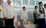 Calon Wakil Presiden nomor urut 01, KH Ma'ruf Amin menghadiri acara istighatsah dan doa bersama dengan para ulama, kiai, dan santri se-Kota Depok di Masjid Syekh Maulana Yusuf, Mekarjaya, Depok, Sabtu (12/1).