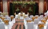Contoh konsep dan dekorasi pernikahan yang digelar di hotel Sahati, Jakarta Selatan.