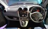 Dashboard New Datsun Panca GO di Jakarta, Rabu (20/8). Sedan hatchback ini dipasarkan pada kisaran Rp 96-101juta.