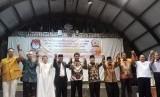 Deklarasi Anti-Politik Uang yang diikuti tokoh lintas agama Palu, Sulawesi Tengah.