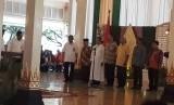 Deklrasi Yogya Damai oleh perwakilan pemuka agama di Bangsal Kepatihan Yogyakarta, Rabu (14/2).