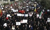 Demonstrasi di Teheran, Iran, 30 Desember 2017.