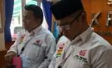 Direktur Hukum dan Advokasi TKN Joko Widodo-Ma'ruf Amin melaporkan video viral Pramuka menerikaan 2019 Ganti Presiden dan kejadian di SMA 87 DKI Jakarta ke KPAI, Jakarta Pusat, Kamis (18/10).