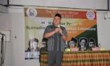 Direktur Pendidikan Diniyah dan Pondok Pesantren Kemenag Dr H Ahmad Zayadi MPd membuka Santri Writer Summit di Pusat Kebudayaan Jepang UI Depok, Sabtu (28/10).