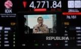 Direktur Pengembangan BEI Nicky Hogan berbicara saat konferensi pers di kantor Bursa Efek Indonesia, Jakarta, Senin (28/3).