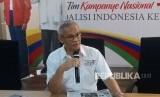 Direktur Program Tim Kampanye Nasional (TKN), Aria Bima  di Posko Cemara, Menteng, Jakarta Pusat, Rabu (20/3).