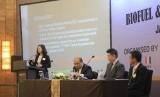Direktur PT Inco Global Nusantara, Tania Ho memberikan paparan pada seminar bertajuk 2020 Sulfur Cap Fuels and Lubricants and Biofuel and Fuel Quality ISO 8217.