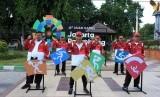 Direktur SDM dan Umum PT KAI, R. Ruli Adi beserta jajarannya siap menyemarakan Torch Relay Asian Games  2018 di Situbondo, Sabtu (21/7).
