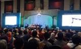 Diskusi Ekonomi Digital Syariah IIE FEST di Trans Luxury Hotel, Bandung, Jumat (25/4).