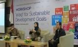 "diskusi grup terfokus dengan tema ""Waqf for Sustainable Development Goals"" pada Kamis (7/12/2017). Kegiatan ini diselenggarakan oleh United Nations Development Program (UNDP) Indonesia di Unpad Training Center, Bandung."