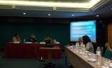 Diskusi perpajakan membahas pentingnya konsisteni perpajakan dalam mendorong investasi yang digelar Share Communications, di Jakarta, Jumat (19/5).