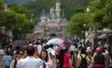 Hong Kong menjadi salah satu kota yang paling sering di kunjungi pada 2019. Foto Disneyland Hong Kong, (ilustrasi).