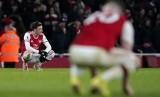 Ekspresi Mesut Oezil usai laga Arsenal vs Sheffield United yang berakhir 1-1.