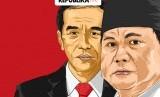 Elektabilitas Jokowi dan Prabowo Berdasarkan Generasi