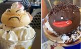 Es krim di kafe Le Poussin Bleu dipermasalahkan warganet karena dinamakan The Chinese dan The African.