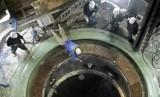 Fasilitas pembangkit listrik tenaga nuklir Bushehr di Iran.