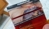 Gambar peringatan merokok (ilustrasi).