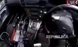 Gambar yang diambil dari video terduga pelaku penembakan masjid di Christchurch, Selandia Baru, Jumat (15/3).