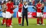 Gareth Southgate (tengah) bersama timnas Inggris.Inggris akan melakoni laga kualifikasi Euro 2020 kontra Montenegro.