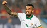 Gelandang timnas Indonesia, Stefano Lilipaly merayakan golnya ke gawang Vietnam pada laga semifinal Piala AFF 2016, di stadion My Dinh, Rabu (7/12). Indonesia lolos ke babak final.