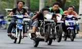 Balapan liar, ilustrasi. Polresta Denpasar menangkap dua pelajar SD yang ikut dalam aksi balapan liar pada Ahad (8/12).