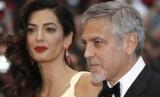 George Clooney dan istrinya, Amal Alamuddin.