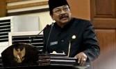 Gubernur Jawa Timur Soekarwo yang akrab dipanggil Pakde Karwo.