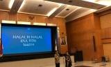 Halalbihalal Badan Koordinasi Penanaman Modal (BKPM) yang dipimpin oleh Kepala BKPM Thomas Lembong di Gedung BKPM, Jakarta, Selasa (18/6).