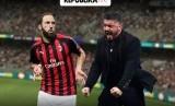 Higuain dispekulasikan akan meninggalkan AC Milan.