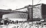 Hotel Indonesia saat pembangunan.