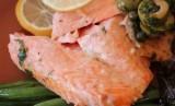 Ikan salmon kaya omega yang baik sebagai asupan nutrisi bagi lansia.