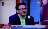 Ilham Bintang dalam sbuah acara diskusi di TVOne