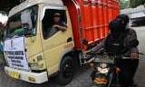 Ilustrasi angkutan logistik.