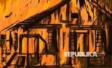 Minimarket di Rawamangun terbakar pada Sabtu (22/2) dini hari. Ilustrasi Kebakaran