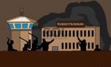 Ilustrasi kerusuhan rumah tahanan