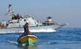 ilustrasi nelayan gaza. Israel mempersempit zona penangkapan ikan di Jalur Gaza