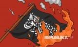 Ilustrasi Pembakaran Bendera Tauhid