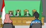 Jika Istri Mengajukan Cerai Terlebih Dulu. Foto: Ilustrasi Sidang Perceraian