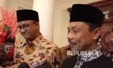 Imam Besar Masjid New York Shamsi Ali menemui Gubernur Anies Baswedan di Balai Kota DKI Jakarta, Jumat (3/11).