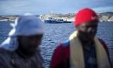 Imigran Afrika di Laut Mediterania. (ilustrasi)