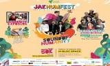 Jakarta Humanity Festival. Jakhumfest mengusung isu lingkungan dan kemanusiaan, serta kerelawanan sebagai topik diskusi.