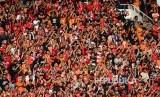 Jakmania di Stadion Utama Gelora Bung Karno (GBK) Senayan, Jakarta, (Ilustrasi).