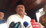 Jaksa Agung M Prasetyo memberikan keterangan perihal rencana pembubaran HTI, di Kejaksaan Agung, Jakarta Selatan, Jumat (12/5).